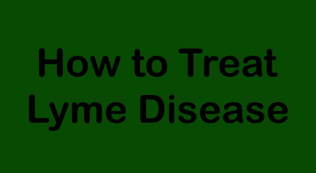 How to Treat Lyme's Disease