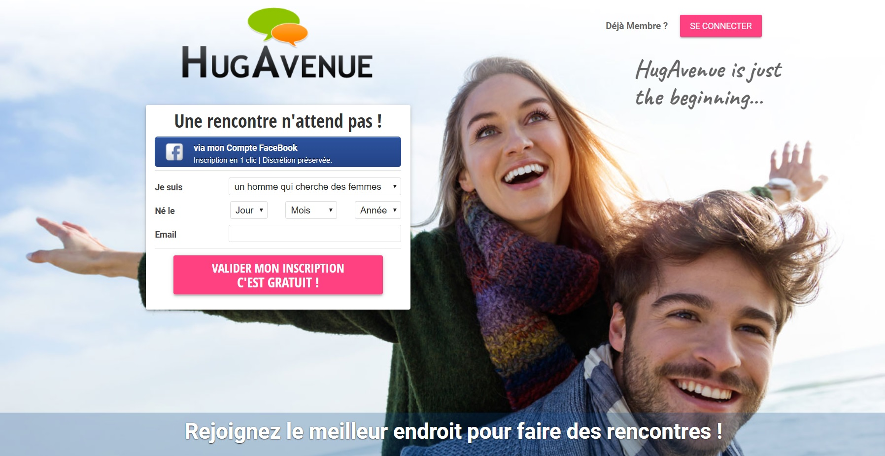 Site de rencontre HugAvenue