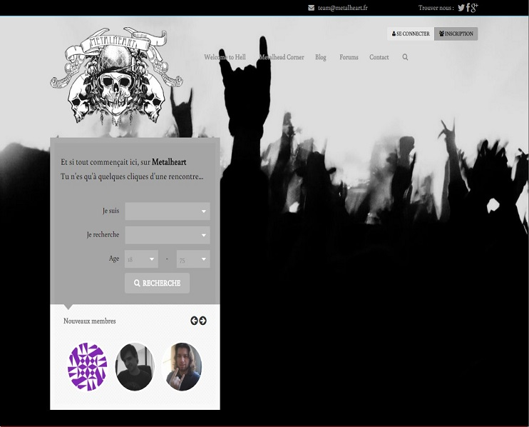 Site de rencontre metal heart
