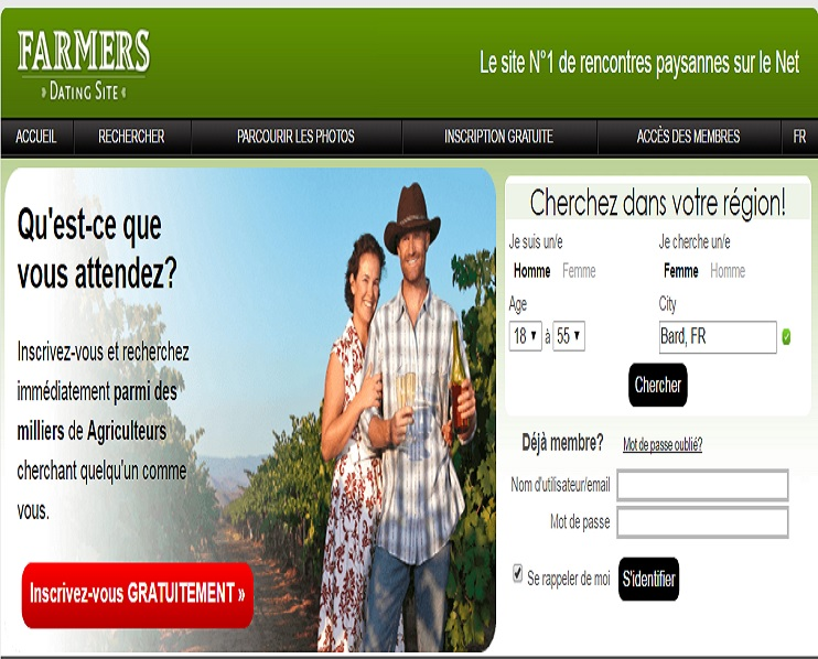 Farmers Dating Site sur howimet.fr
