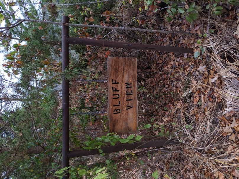 Bluff View Sign in Autumn