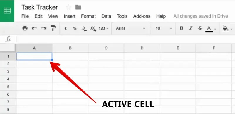 An Active Cell in Google Sheets