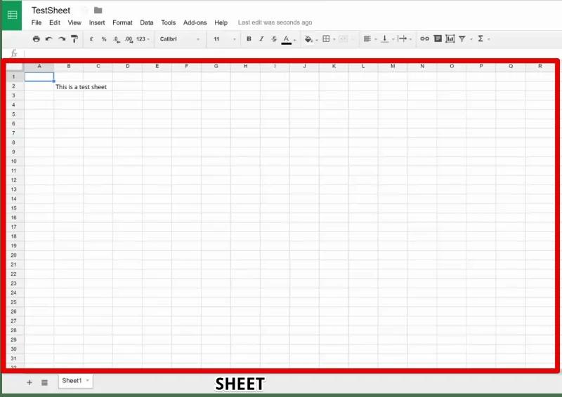 A Sheet