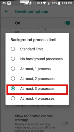 Limiting Background Processes to 3