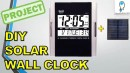Solar Powered Wall Clock