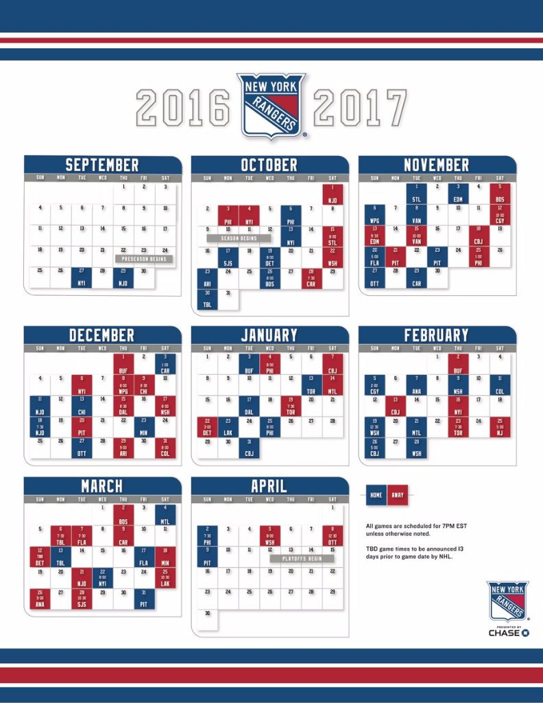 graphic relating to New York Rangers Printable Schedule called Ny Rangers Agenda Printable Illustrations and Sorts