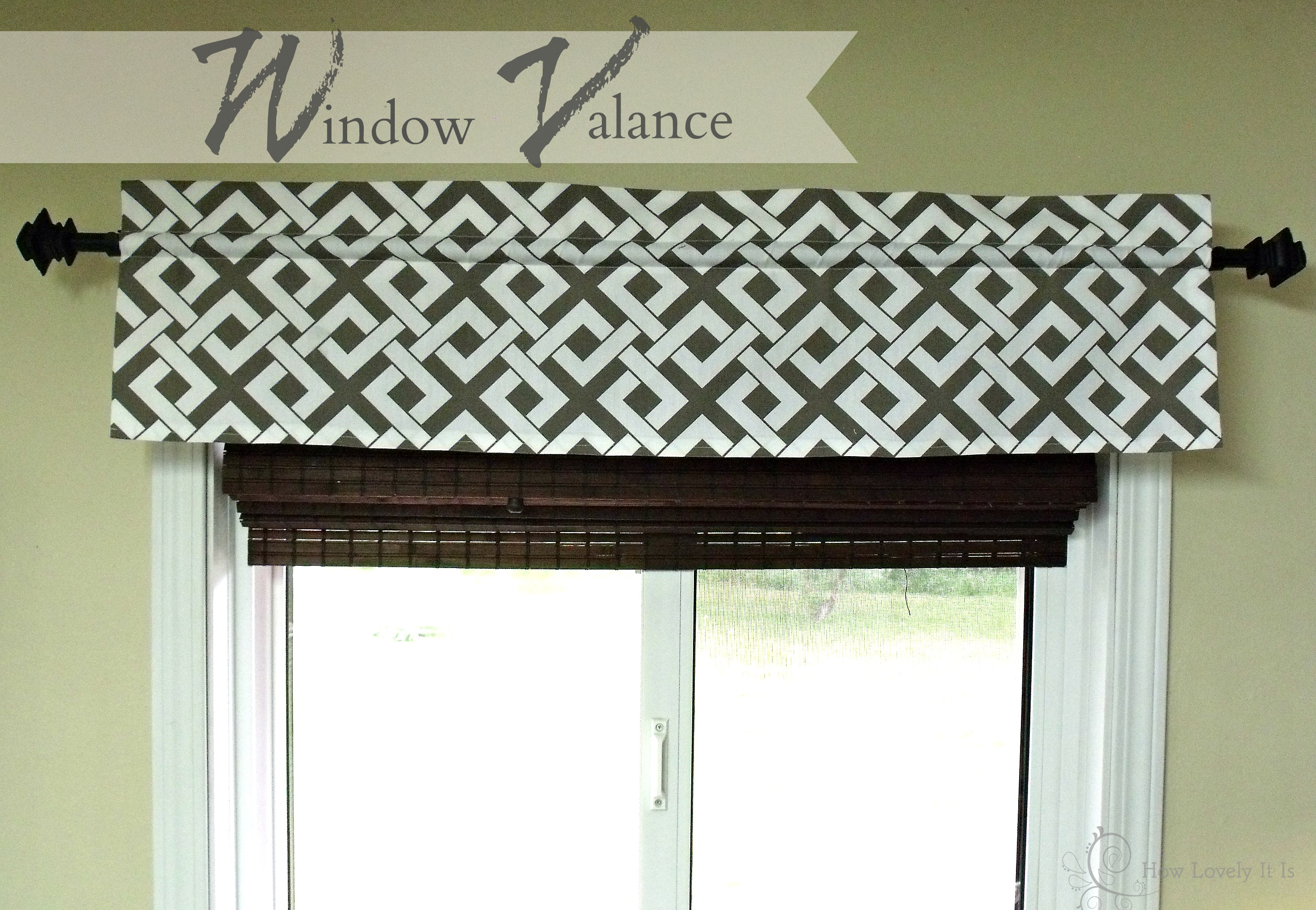 kitchen window valances wall mount sink valance how lovely it is