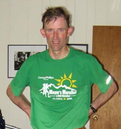 Rudy Owens after the 2008 Mayor's Marathon in Anchorage. I finished 21st.