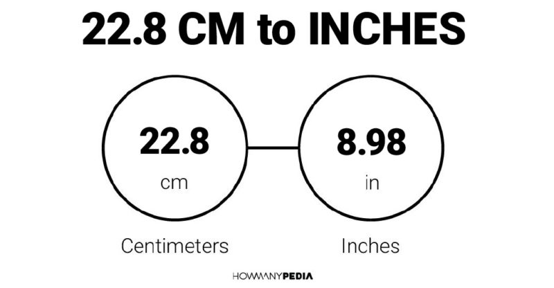 22.8 CM to Inches – Howmanypedia.com