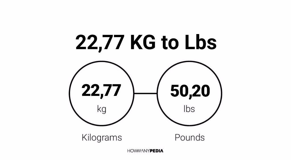 22.77 KG to Lbs – Howmanypedia.com