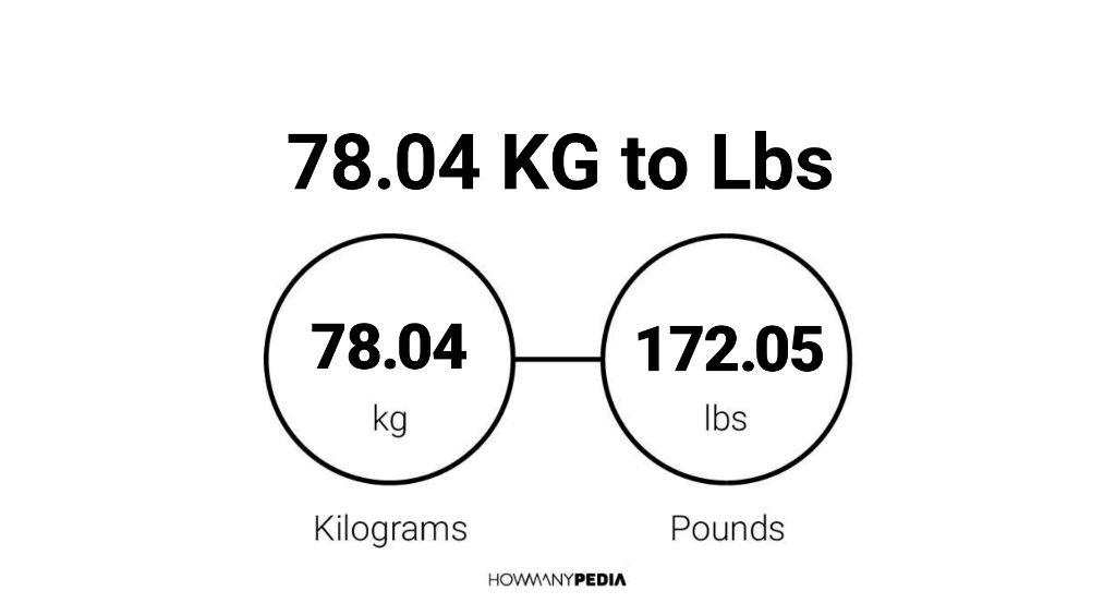 78.04 KG to Lbs – Howmanypedia.com