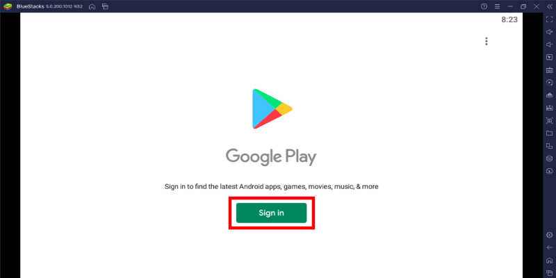 Bluestacks Playstore Email Sign in
