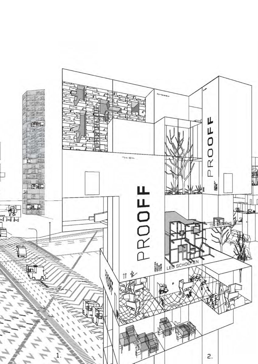 Detail from office campus landscape drawing