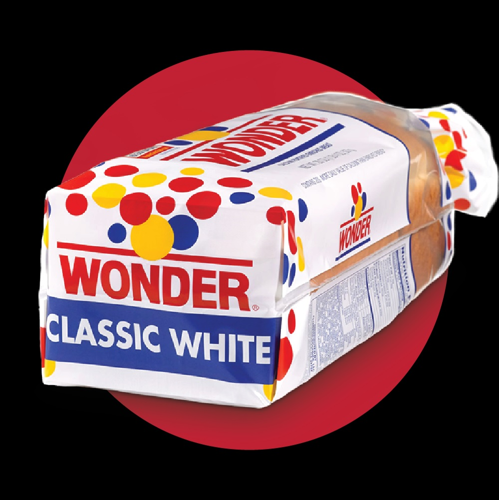 wonder bread: a bread with enriched flour