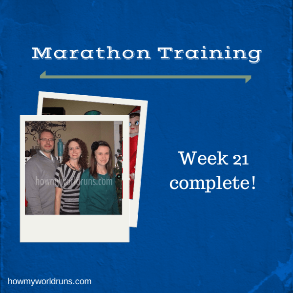 Week 21 training