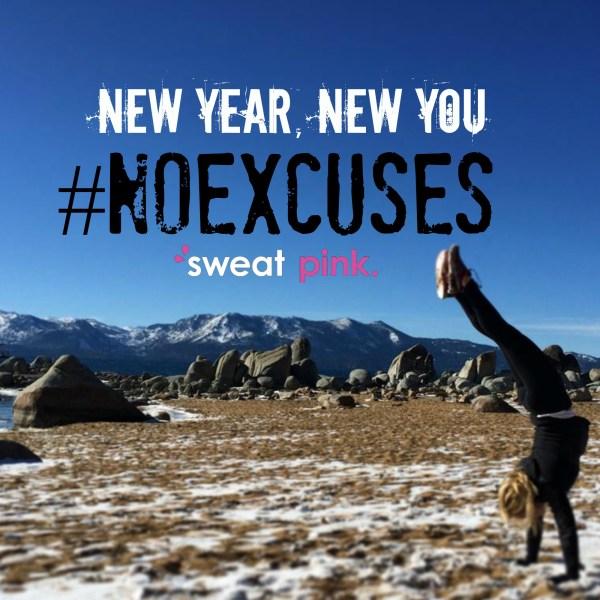 Sweat pink no excuses