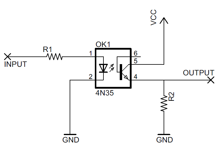 optocoupler relay driver circuit diagram