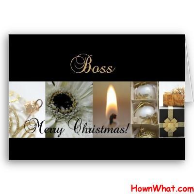 Sample Christmas Letter to Boss Template