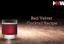 Red Velvet Cocktail Recipe