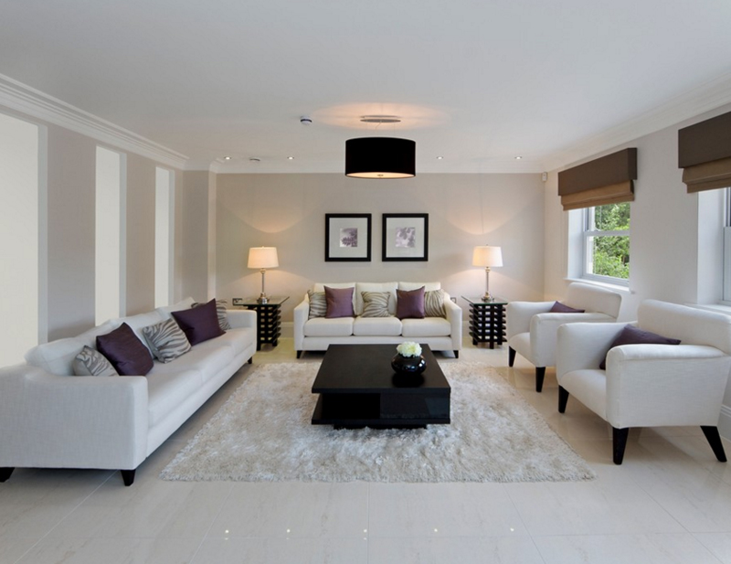white sofa living room contemporary furniture ideas 15 gorgeous sets sofas rug black chandlier yellow lamps