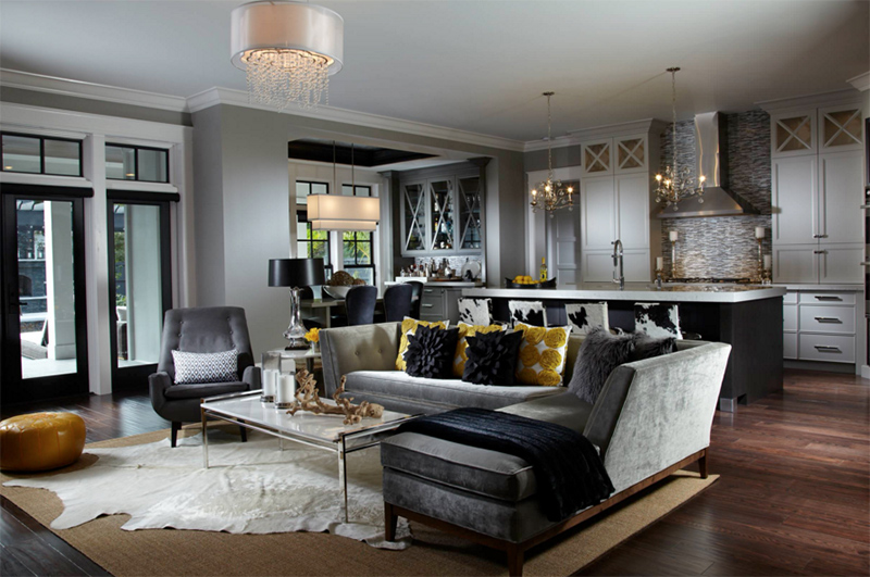 gray sofa sectional wood sofas with cushions 19 modern living room designs to inspire you