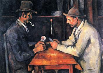 The Card Players Painting