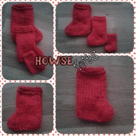 Mini Knitted Christmas Stockings (Xmas)