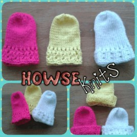Premium Knitted Baby Mittens