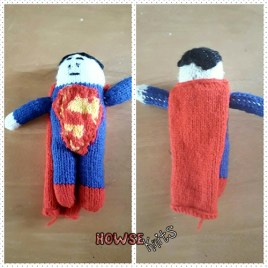 Knitted Superman Plushie