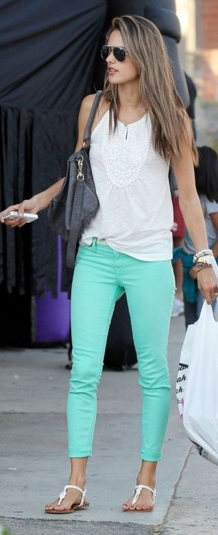Outfit Inspiration - Good Mint Jeans - The Face Of Style