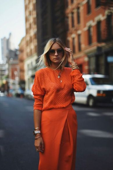 Outfit Inspiration - The Orange Co Ord - The Face Of Style