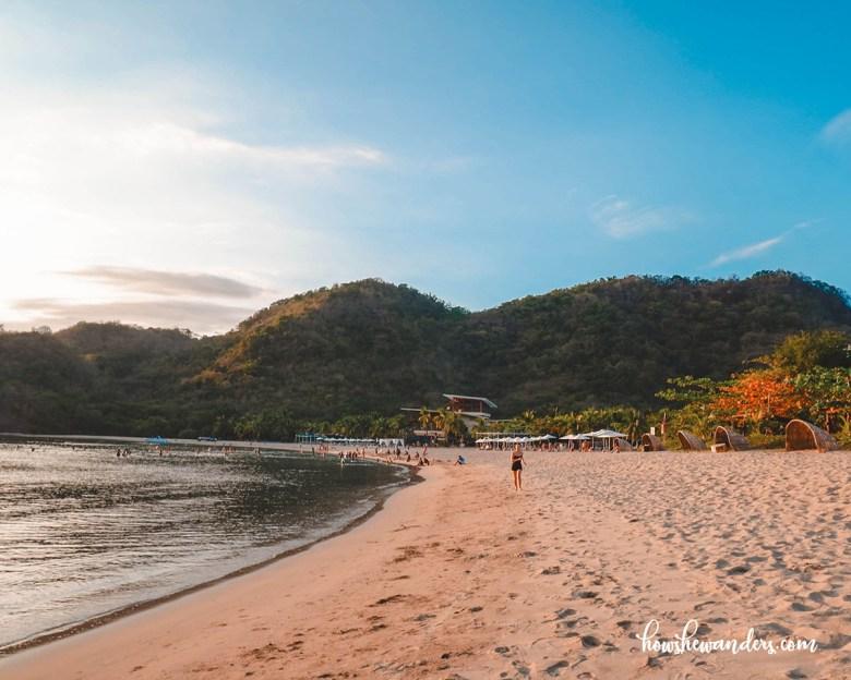 pico de loro beach golden hour