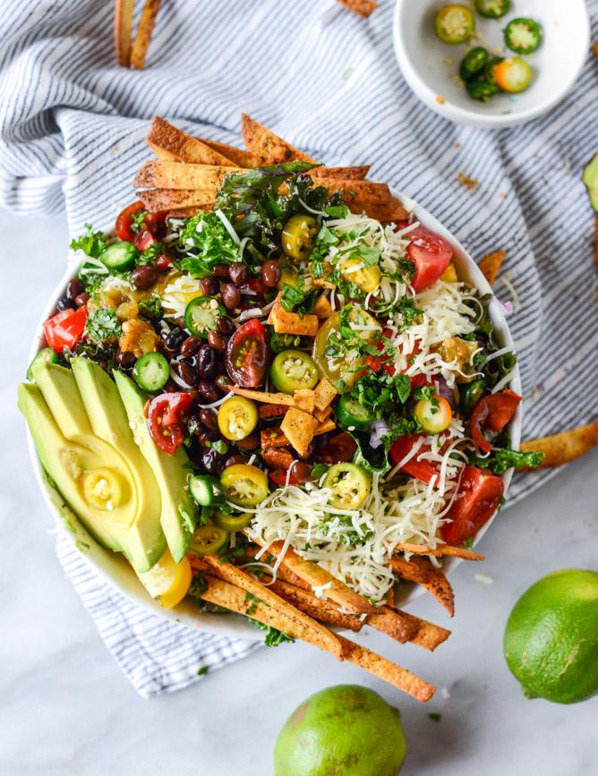 quick and easy dinner ideas, simple dinner ideas, crunchy taco kale salad