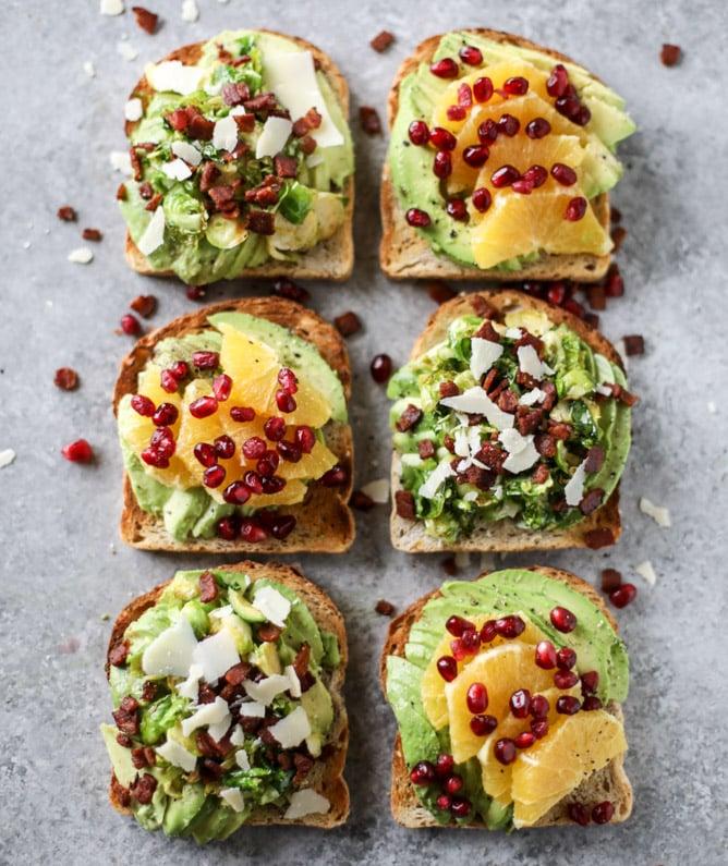 winter avocado toast two