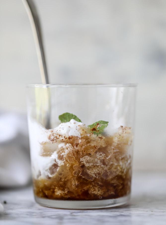 mojito coffee granita I howsweeteats.com
