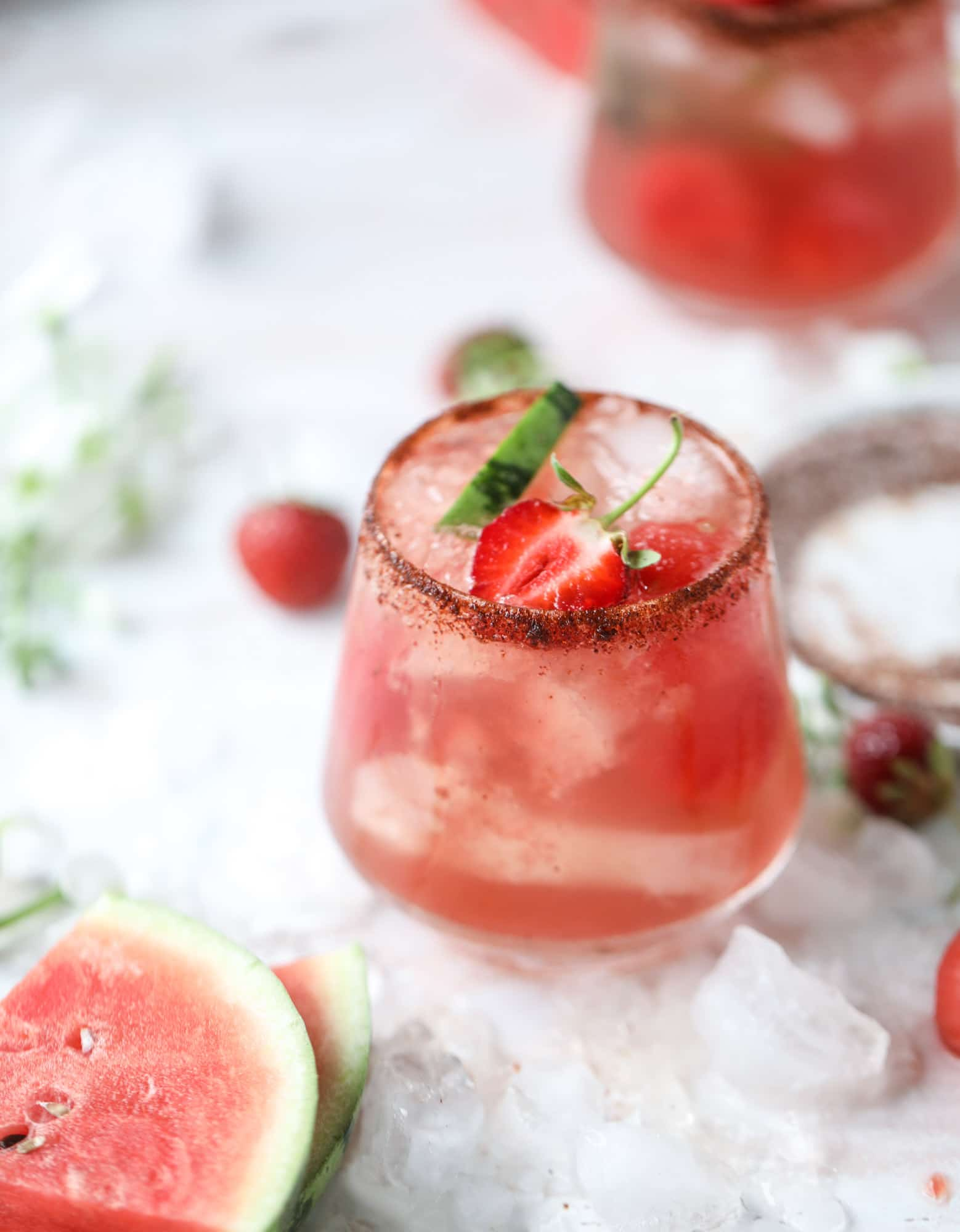 spicy watermelon sangria