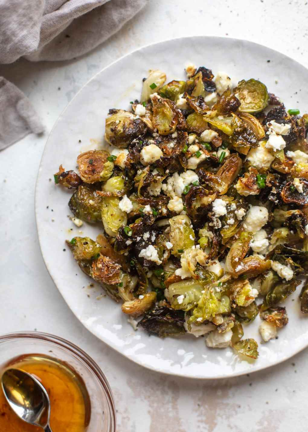 hot honey roasted brussels sprouts