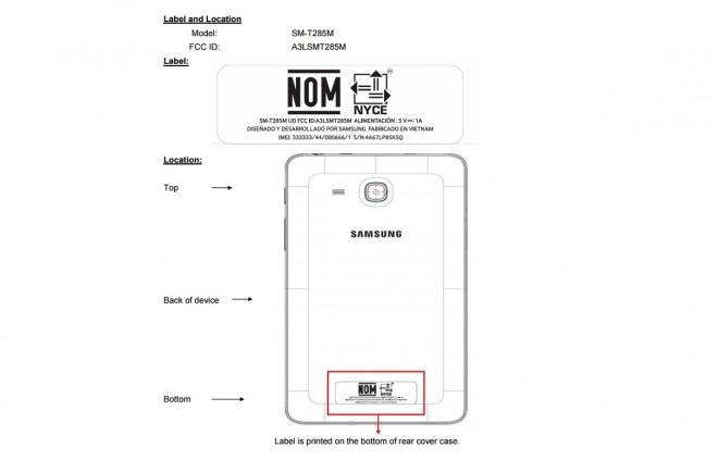 Samsung Galaxy Tab E 7.0 LTE (SM-T285M) на FCC