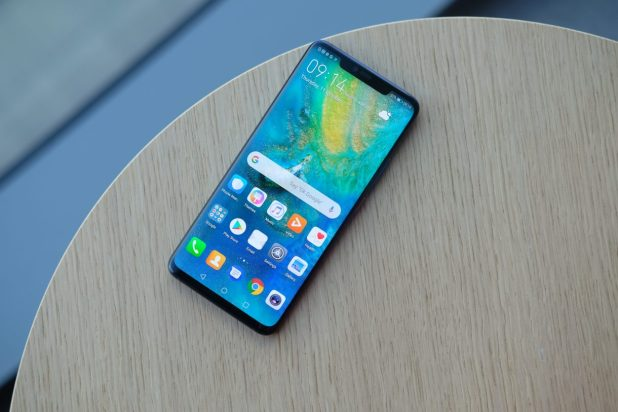 الشاشة في هاتف Huawei Mate 20 Pro