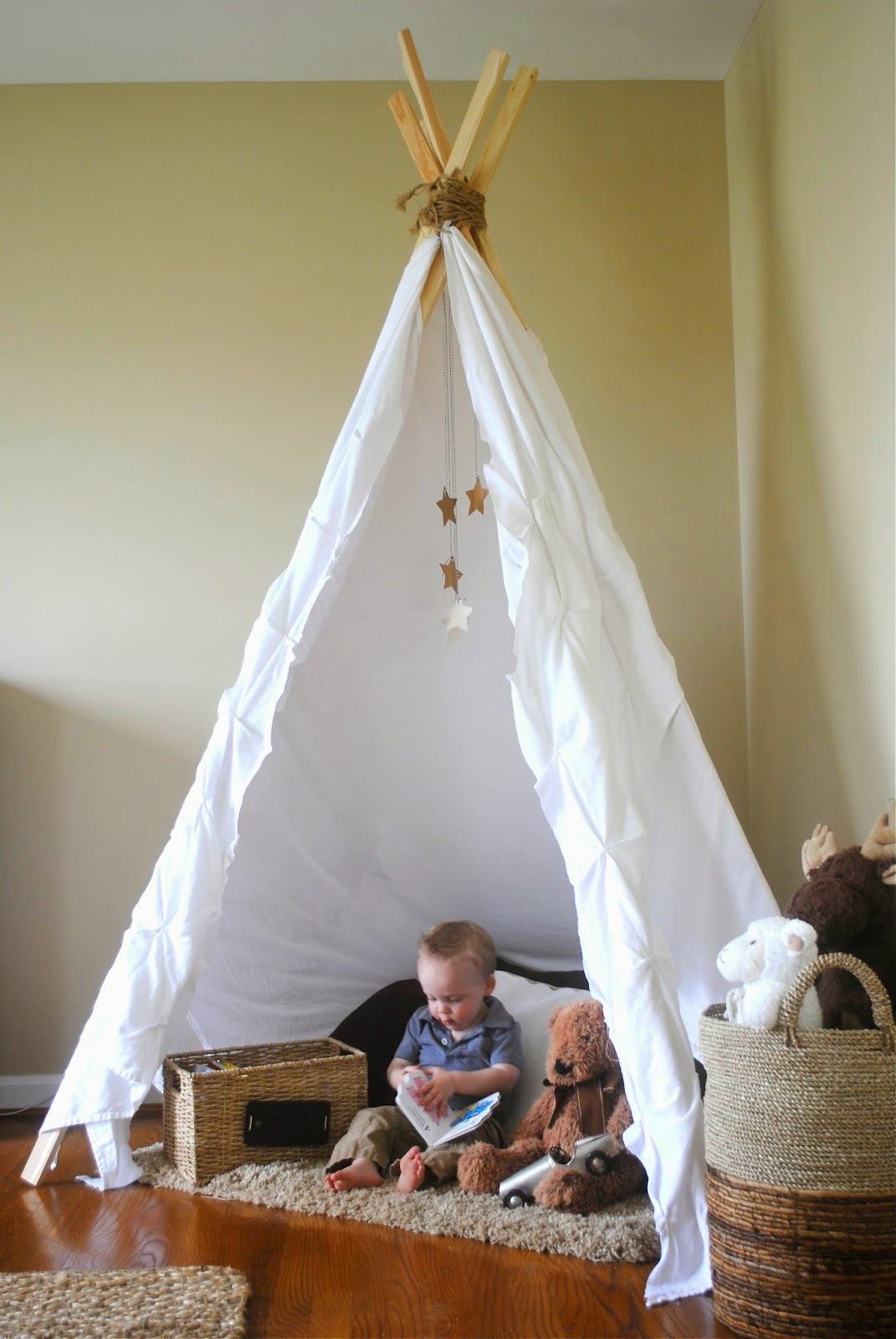 Neutral Playroom with NoSew Teepee  How To Simplify