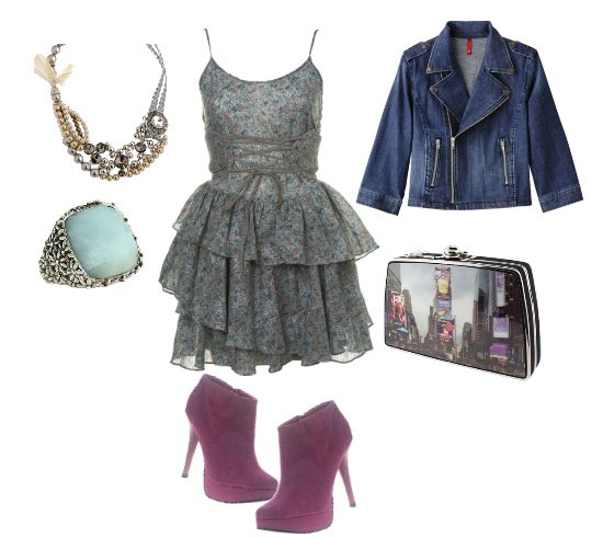 Lace and Denim, Flirty and Edgy in One Look