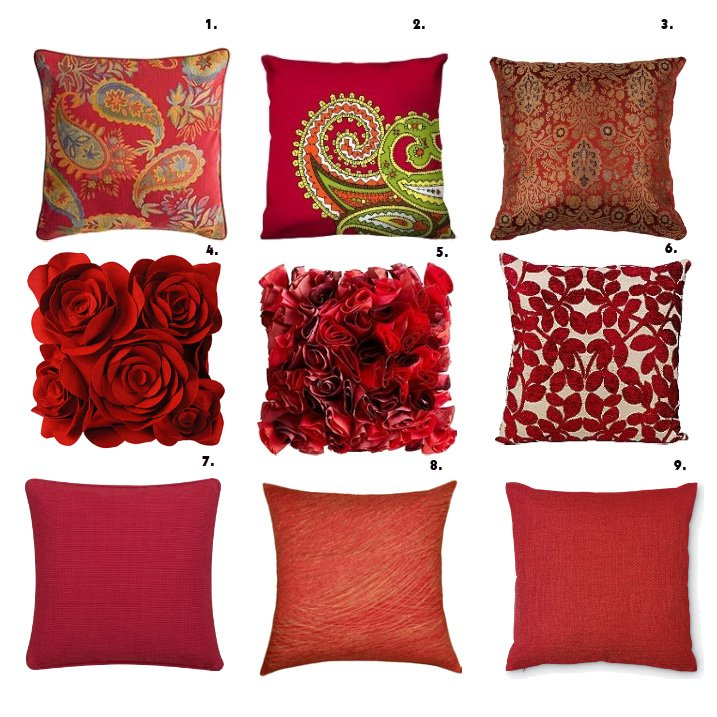 Shopping Time: Red Pillows!