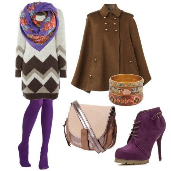 Daily Outfit: Cozy Purple Winter - 7 Piece Outfit for $180 22