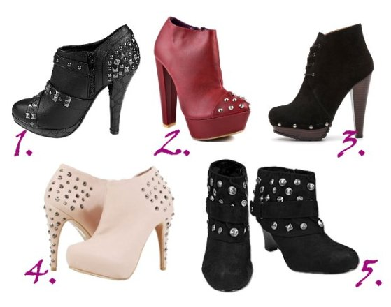 Shopping Time: Studded Booties Under $50! 1