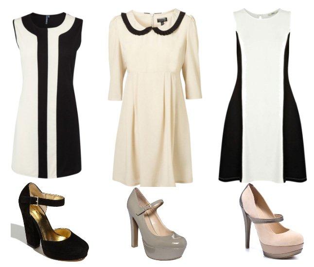Black & White Retro Dresses on a Budget