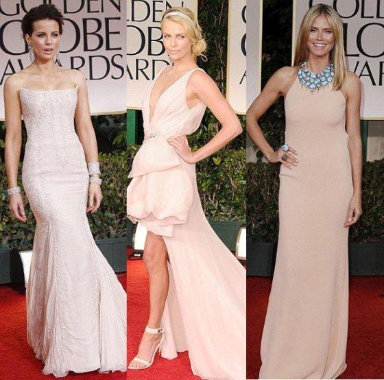 Celebrity Trends: Pink Blush Evening Dresses 15