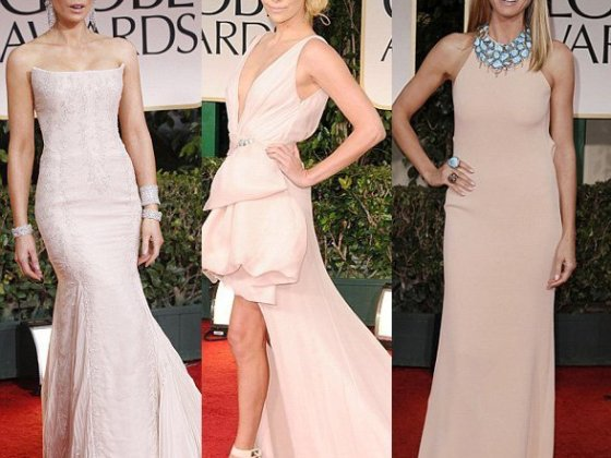 Celebrity Trends: Pink Blush Evening Dresses 3