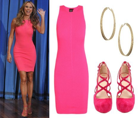 celebrity trends- Stacy's head-to-toe hot pink outfit 1