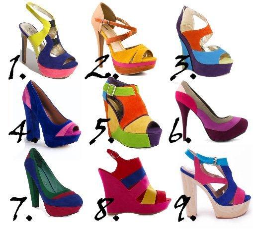 Trend Alert: Color-Block Rainbow Shoes Under $50