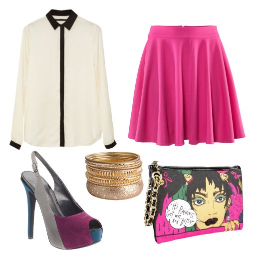 Daily Look: Funky Hot Pink Outfit for Less Than $150